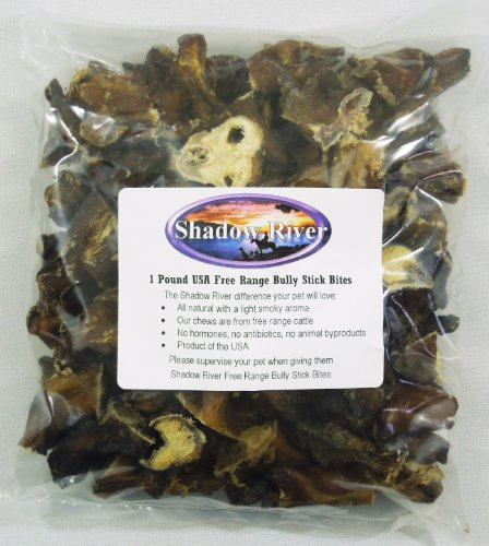 Shadow River 1 Pound Bully Stick Bites Dog Treats – Product of the USA, My Pet Supplies