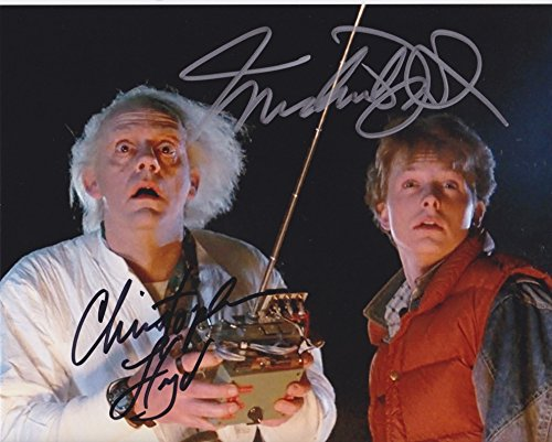 Back to The Future (Michael J. Fox & Christopher Lloyd) signed 8x10 photo