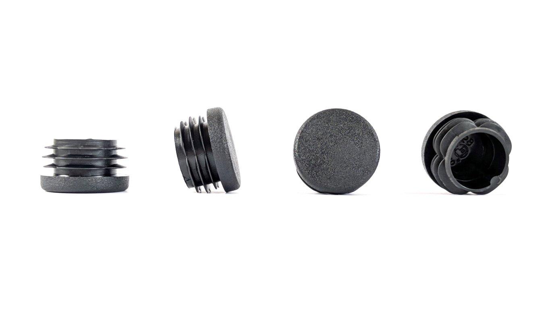 Inserts de Tube Noir, Diam/ètre 10mm - Avant de commander cette taille voir la deuxi/ème image, Pack de 100 Planeurs de meubles Embouts de tube ronds Fabriqu/é en Allemagne