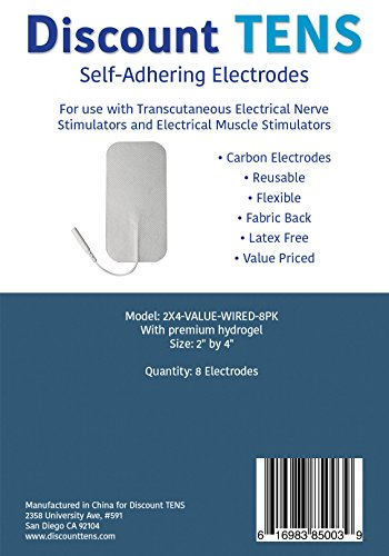 TENS-Electrodes-Value-Wired-2x4-Replacement-Pads-for-TENS-Units-8-TENS-Unit-Electrodes-2x4-Wired-TENS-Unit-Pads-Discount-TENS-Brand