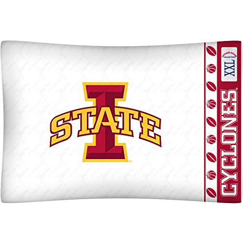 NCAA Iowa State Cyclones Micro Fiber Pillow Case Logo (Iowa Pillow)