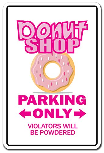 Donut Shop Novelty Sign | Indoor/Outdoor | Funny Home Décor for Garages, Living Rooms, Bedroom, Offices | Signmission Doughnut Food Gift Bakery Fresh Hot Coffee Love Eat Diet Sign Decoration -