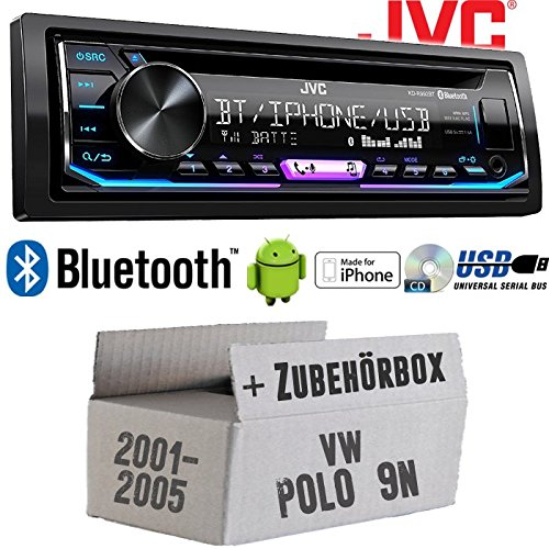 VW Polo 9N - Autoradio Radio JVC KD-R992BT - Bluetooth | MP3 | USB | Android | Multicolor - Einbauzubehö r - Einbauset JUST SOUND best choice for caraudio VWPo9N_KD-R992BT