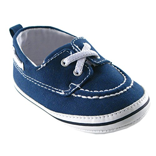 Baby Boat Shoes (Luvable Friends Boy's Slip-On Shoe (Infant), Navy, 0-6 Months M US Infant)