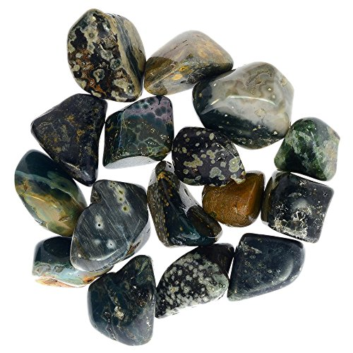 - Digging Dolls: 10 pcs Tumbled Sea Jasper (aka Orbicular Jasper) Stones from Madagascar - 0.75