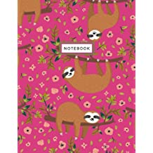 Notebook: Sloth Sweetheart Pink Notebook (Composition Book, Journal) (8.5 x 11 Large)