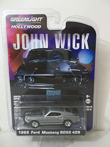 Greenlight 1/64 Hollywood Series 18 John Wick Movie (2014) 1969 Ford Mustang Boss 429 Die Cast -