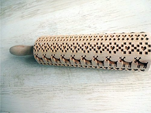 Beim Backen Skandinavische Muster Mit Nudelholz 8