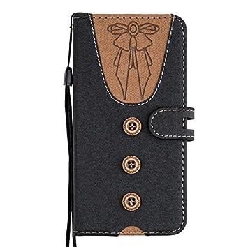 Edaroo Cute Design Schwarz PU Leder Kunstleder Flip Case mit ID Kreditkarten Magnetverschluss Stand Fuction Schutzh/ülle Handytasche f/ür iPhone 6S//6 4.7 iPhone 6S Flip Case iPhone 6S Tasche