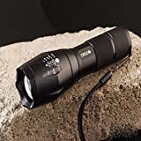 2000 Lumen Cree XML T6 Zoomable LED Flashlight Focus Zoom Light Torch 18650/aaa