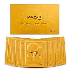 Collagen Eye Mask 24K Gold Reduce Dark Circles and Puffiness Eye Treatment Pads Eye Patches With Anti-aging and Wrinkle Care Properties, Christmas Gifts for Women & Men (16 Pairs)