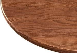 Amazon Com Wood Grain Vinyl Elasticized Table Cover Home