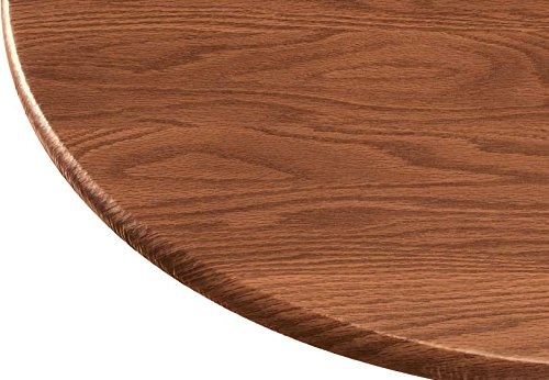 Wood Grain Vinyl Elastic Table Cover Dia Round Banquet Table