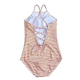 - 51tHhpakH2L - JIANLANPTT Pretty High Neck Print Swimwear Women One Piece Monokini Swimsuits