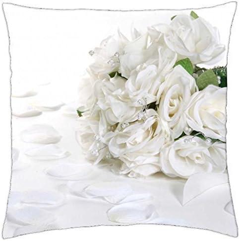 Amazon Com Gorgeous White Bouquet Throw Pillow Cover Case 16 Home Kitchen