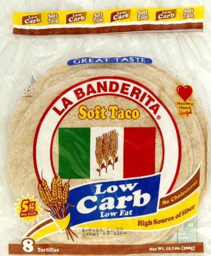 La Banderita Low Carb Tortilla 8pc, 12.7 Ounce (Pack of 12)