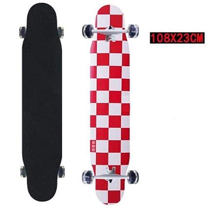 GDYYZYQ Tabla De Skate Profesional De 4 Ruedas Longboard ...