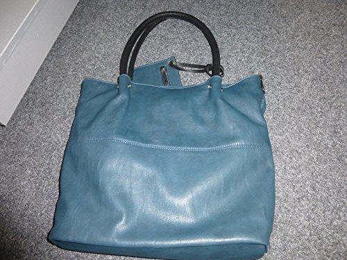 Maestro sacchetto della maniglia del sacchetto delle signore, colore: Petrol / Nero