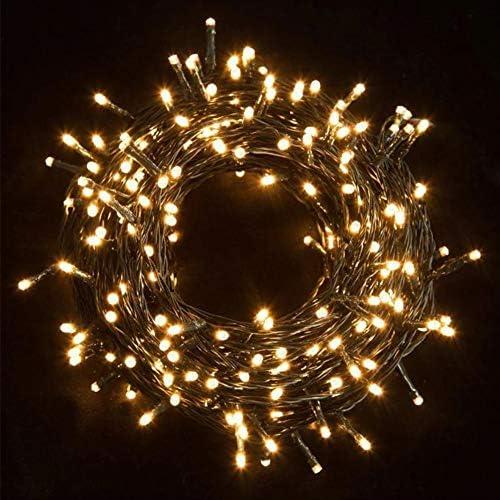 400 LED 28M Luci Albero di Natale Luci di Natale Esterno ed Interno Catena Luminosa 8 Modalità Luci da Stringa per Esterni, Giardini, Case, Matrimonio, Natalizie (Bianco Caldo, 400LED)
