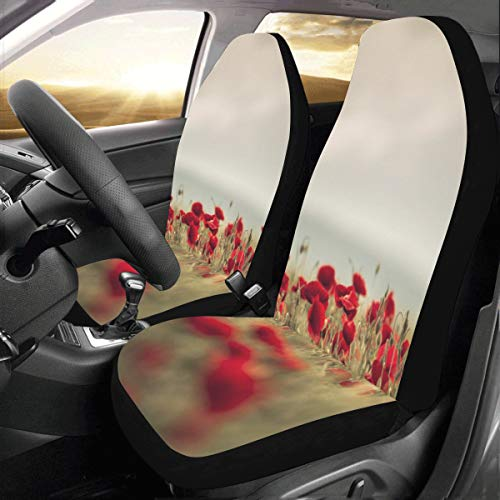 (Evil and Dead Love Poppy Custom New Universal Fit Auto Drive Car Seat Covers Protector for Women Automobile Jeep Truck SUV Vehicle Full Set Accessories for Adult Baby (Set of 2 Front))
