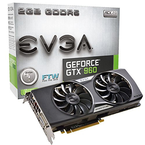 EVGA GeForce GTX 960 Graphic Card - 1.30 GHz Core - 1.37 GHz Boost Clock - 2 GB GDDR5 SDRAM - PCI Express 3.0 x16 - Dual 02G-P4-2968-KR