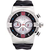 Mulco M10 Dome Gents Collection Watch - Premium Analog Display - 100% Silicone Band Watch - Chronograph - Water Resistant - Stainless Steel Fashion (Black/Silver/Red)