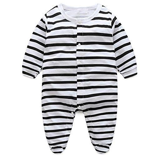 ZHUOTOP Stripe 80cm Milk Boy Bodysuit Stripe Bottle Girls' Baby Jumpsuits Girl Pr1vP6