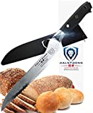 Dalstrong Serrated Offset Bread and Deli Knife- Shogun Series- AUS-10V Japanese Super Steel 67 Layers- Vacuum Treated- 8'' - Included Sheath