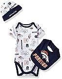 Gerber Childrenswear NFL Denver Broncos Boys Bodysuit Bib & Cap Set, 3-6 Months, Navy
