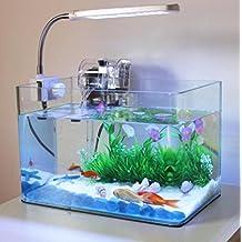 Aquarium Transparent Rewind Rectangular Glass goldfish bowl Turtle tank Ecological fish tank Small landscape fish tank 10.8L?30 * 18 * 20cm? , 30*18*20cm