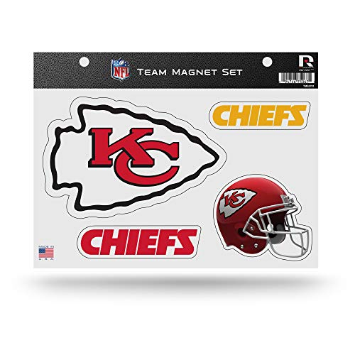 Rico Industries NFL Kansas City Chiefs Die Cut Team Magnet Set Sheet - Kansas City Chiefs Sheet Set