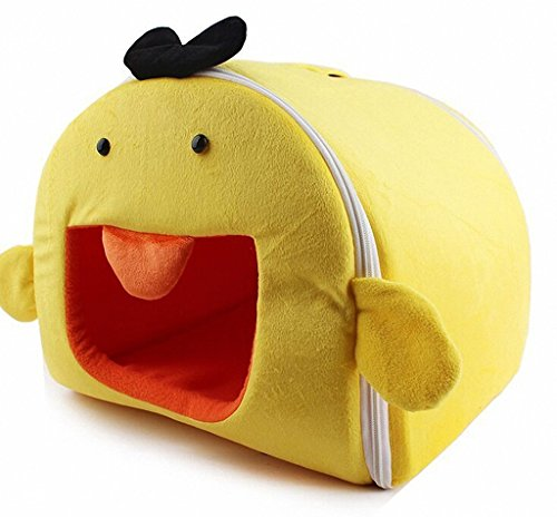 Rachel Pet Products Removable Funny Cartoon Dog Cat Pet House - Yello Duck