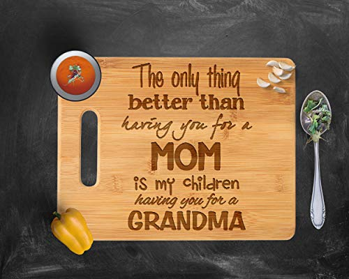 - Mothers Day Cutting Board, Grandmother Gift, Grandma Gift, Mothers Day Gift, Grandma Mothers Day, Mothers Day Gift for Grandma, Wood, Rustic