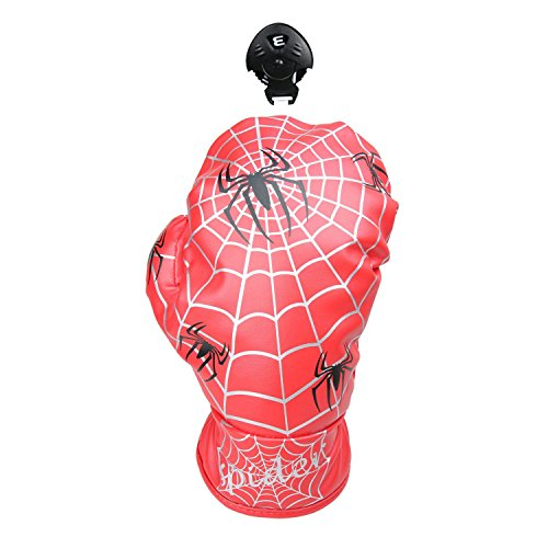 (Spider Web Design Golf Club Fairway Wood Headcover Boxing Glove FW Cover (Red))