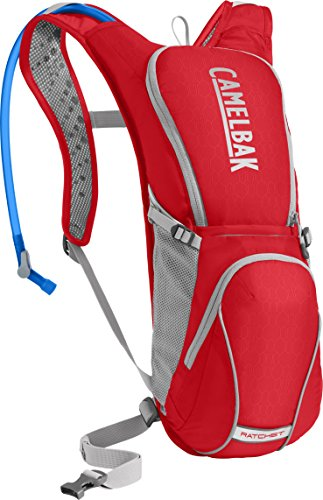 CamelBak Ratchet Crux Reservoir Hydration Pack, Racing Red/Silver, 3 L/100 oz