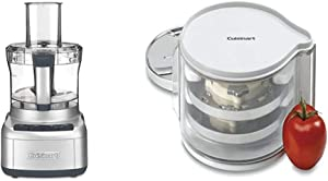 Cuisinart FP-8SV Elemental 8 Cup Food Processor, Silver & DLC-DH Disc Holder