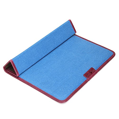 Price comparison product image Laptop Sleeve for Macbook Air 30cm*1cm*21.5cm Inch Waterproof Canvas with Genuine Leather (Blue)