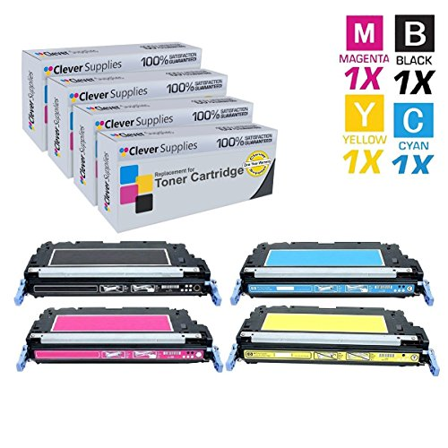 CS Compatible Toner Cartridge Replacement for HP 3800DN Q6470A Black Q7581A Cyan Q7582A Yellow Q7583A Magenta HP 502A & HP 503A Color Laserjet 3600n 3600dn 3800dn 3800dtn CP3505n 4 Color - Printers Series 3800 Color Laser
