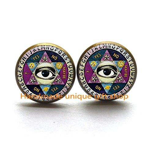 Psychic Reader Costume (Fashion Earrings,Ouija board Earrings, Charming Quiji Board,Ouija Board Jewelry, Ouija Board Jewellery-RC199)