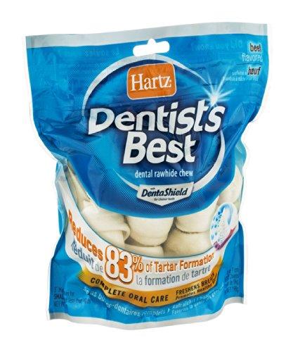 Hartz 01007 7 Oz 3'' Rawhide Bones Dentist's Best With DentaShield™ by HARTZ