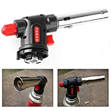 Itian Portable Gas Torch Burner Blow, Outdoor Lighter For BBQ Flamethrower Burner For Cooking