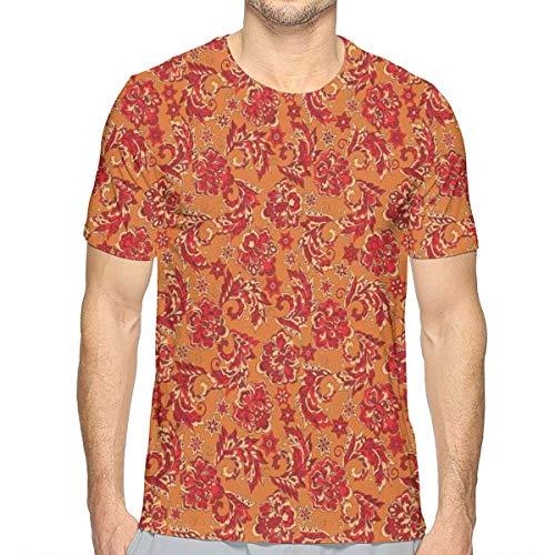 lsrIYzy 3D Printed T Shirts,Nostalgic Western European Medieval Renaissance Inspired Eastern Bohemian Pattern