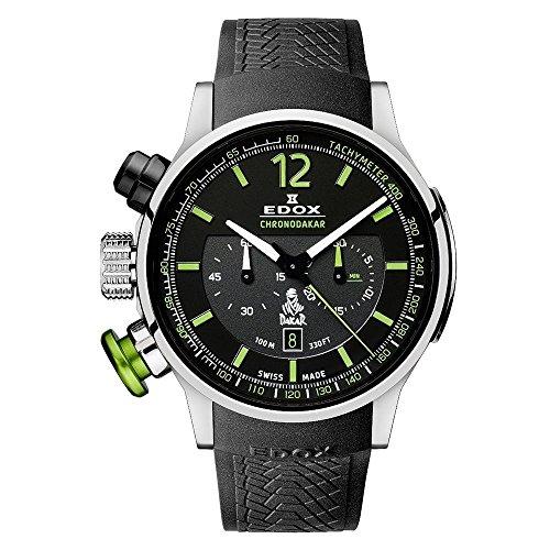 Edox Men s 10303 TIN NV Dakar L.E. Analog Display Swiss Quartz Black Watch
