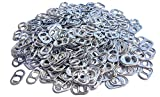 Never Used Aluminum Soda Beer Pop Can Tabs with Smooth Edges for Jewelry, Chainmail, Art, Etc. (5oz)