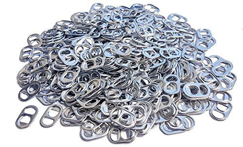 (Never Used Aluminum Soda Beer Pop Can Tabs with Smooth Edges for Jewelry, Chainmail, Art, Etc. (5oz))