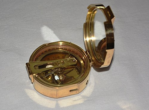 Hello Nauticals Storeヴィンテージ真鍮Brunton Compassソリッド真鍮Brunton Compass真鍮compaasボックスギフト B07D4HBD16