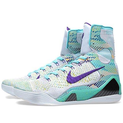 Nike Kobe Ix Élite (112) De Gris De Loup, Crt Violet-sprt Trq