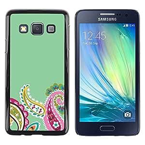 Be Good Phone Accessory // Dura Cáscara cubierta Protectora Caso Carcasa Funda de Protección para Samsung Galaxy A3 SM-A300 // Petals Minimalist Teal Flower