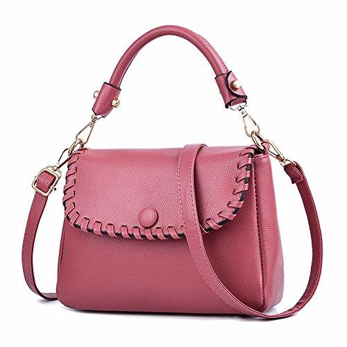 GQFGYYL red Pure Les Couleur rose Sac Fashion Main Mode à 4qzwRr4x