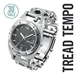 Leatherman - Tread Tempo Watch, Customizable Multitool Timepiece, Stainless Steel